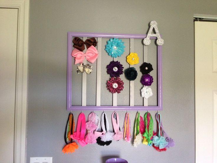 Project Nursery - Gray and Purple Nursery Hair Bows