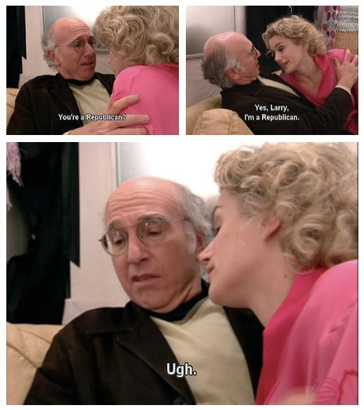 bahahaha i remember this one, i'd do the same damn thing. go Larry David!!!