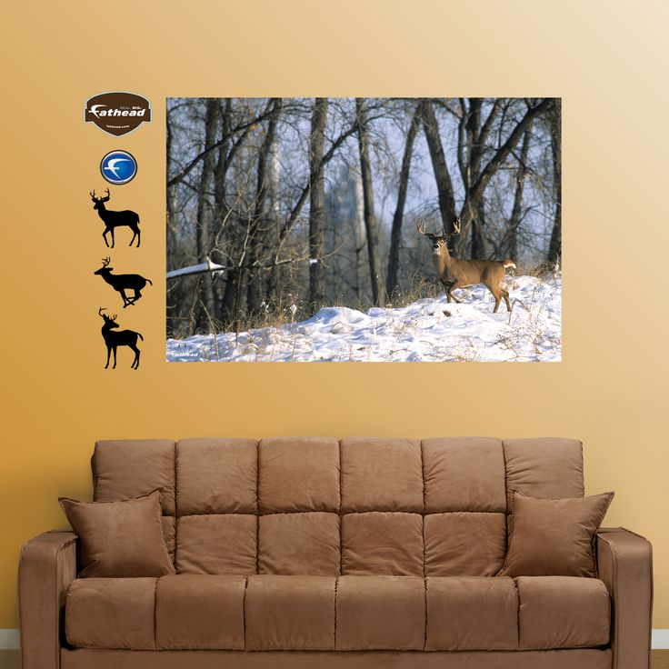 Deer in the Woods Mural for our hunting theme room!