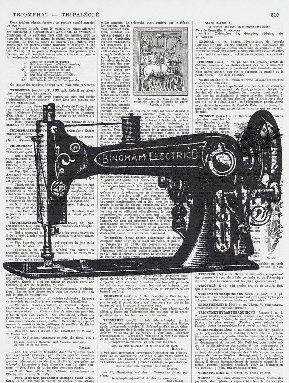 sewing machine silhouette print