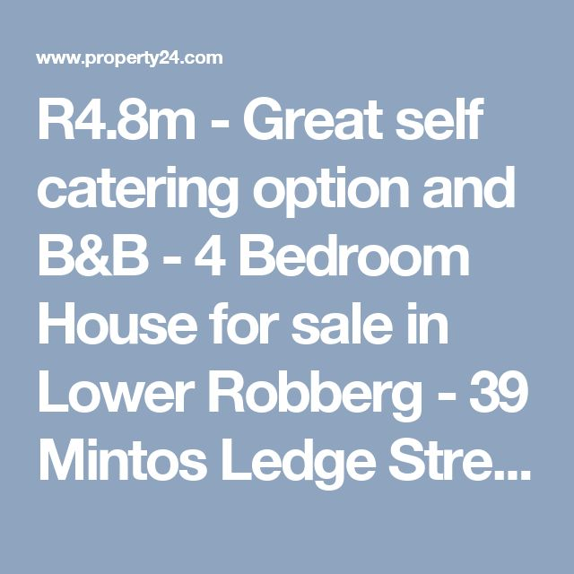 R4.8m - Great self catering option and B&B - 4 Bedroom House for sale in Lower Robberg - 39 Mintos Ledge Street - P24-104411924 - Really like this - kitchen possibly not the best