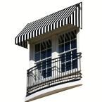 AWNTECH 25 ft. New Yorker Window/Entry Awning (18 in. H x 36 in. D) in Black / White Stripe, Black/White Stripe