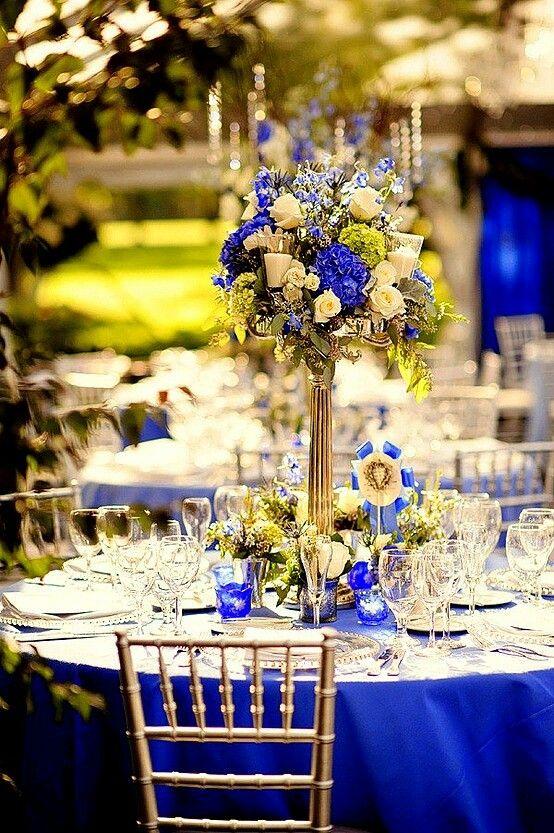 That flower arrangement at the top! Reception decor