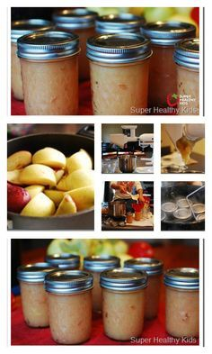 Canning Applesauce with Kids in 4 Easy Steps - I love to can our own applesauce. I've never found a store-bought applesauce that was thick and chunky enough for my preference. Canning your own lets you make it as thick as you like! http://www.superhealthykids.com/canning-applesauce-with-kids-in-4-easy-steps/