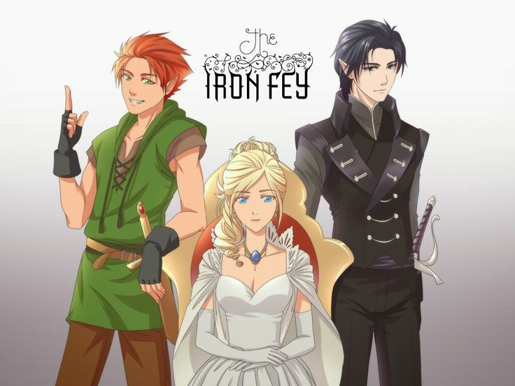Puck, Meghan and Ash from the Iron Fey series by Julie Kagawa