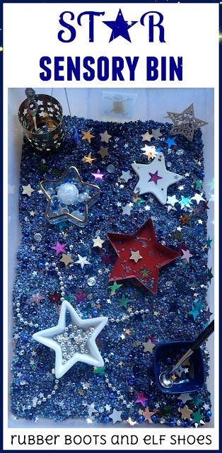 rubberboots and elf shoes: star sensory bin