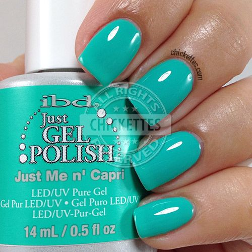 ibd Just Gel Polish - Just Me n' Capri - swatch by Chickettes.com