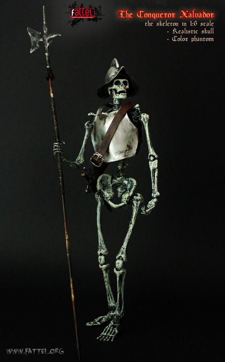 the skeleton in 1:6 scale        - Realistic skull        - Color phantom