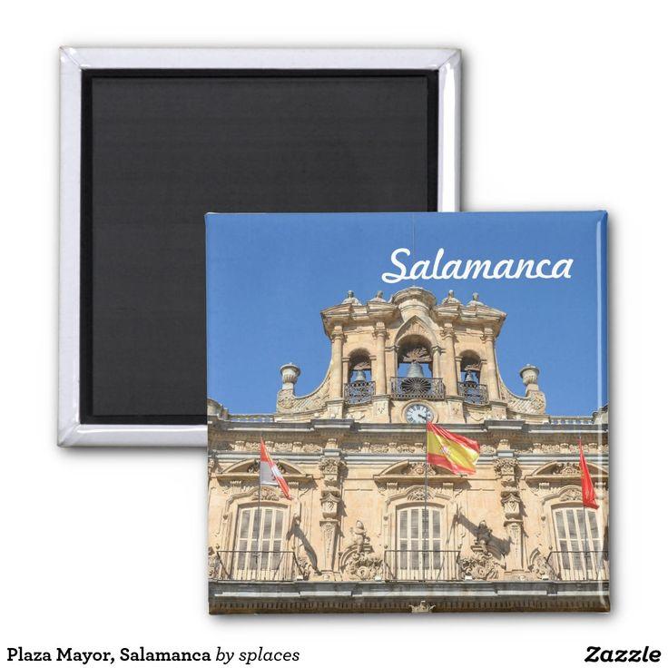 Plaza Mayor, Salamanca, Spain 2 Inch Square Magnet