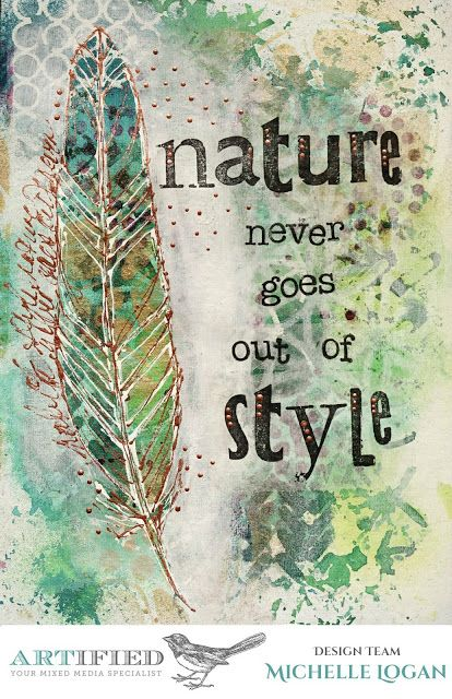 ML Design: Ink, Paint, Stamp & Paper Bliss: Art Journal Page for Artified
