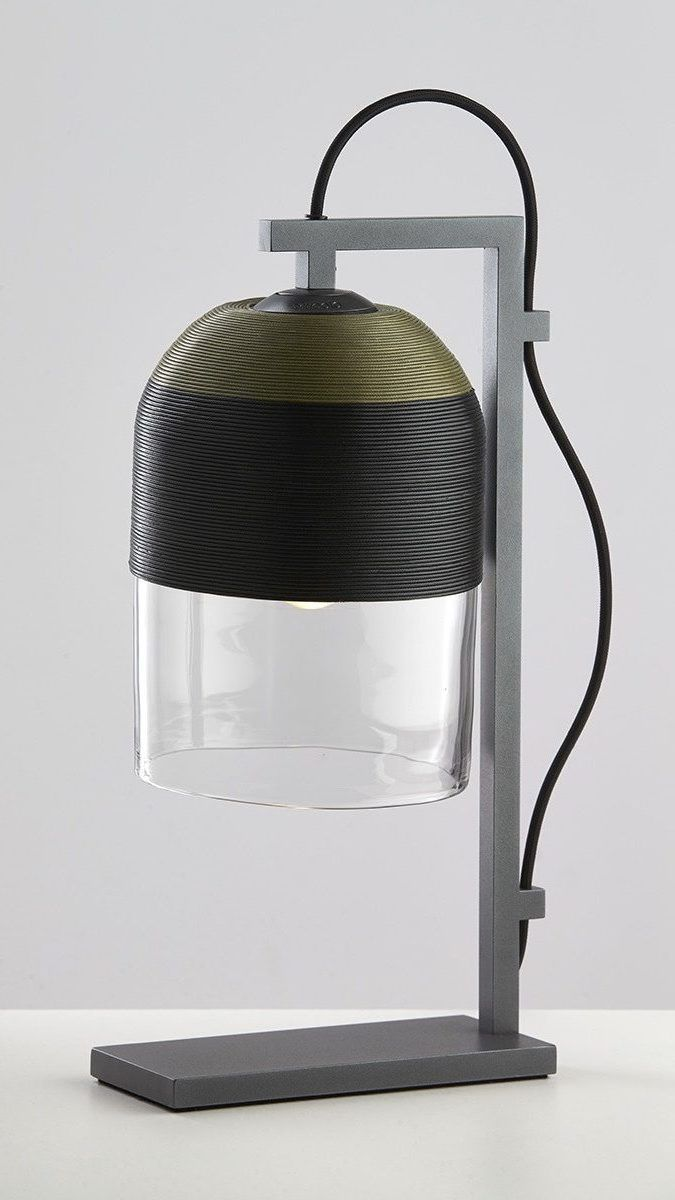 Articolo Indi Olive and Black table lamp with Black stand and Black flex #articololighting #lightingdesign #bespokelighting #interiordesign #tablelamp #wovenshade