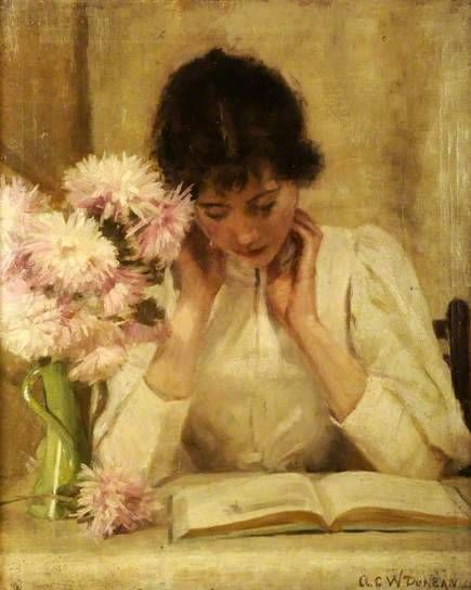 "lacloserie: "" The reading girl 1896 A.C.W.Duncan """