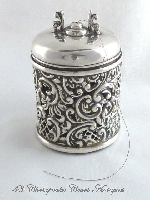 Antique English Sterling Silver String Holder Henry Matthews from 43chesapeakecourt on Ruby Lane
