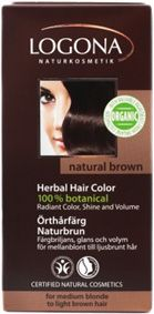 Logona Herbal Hair Colour Powder Natural Brown for medium-blonde to light-brown hair. The herbal hair colours are especially gentle and lasting. A composition of organic henna powder and other colouring plants, in addition to caring botanical ingredients like organic jojoba oil*, provides radiant colour, shine and volume. BDIH. Natrue Certified. Logona Organic Seal. Vegan. http://www.theremustbeabetterway.co.uk/logona-herbal-hair-colour-powder-natural-brown.html