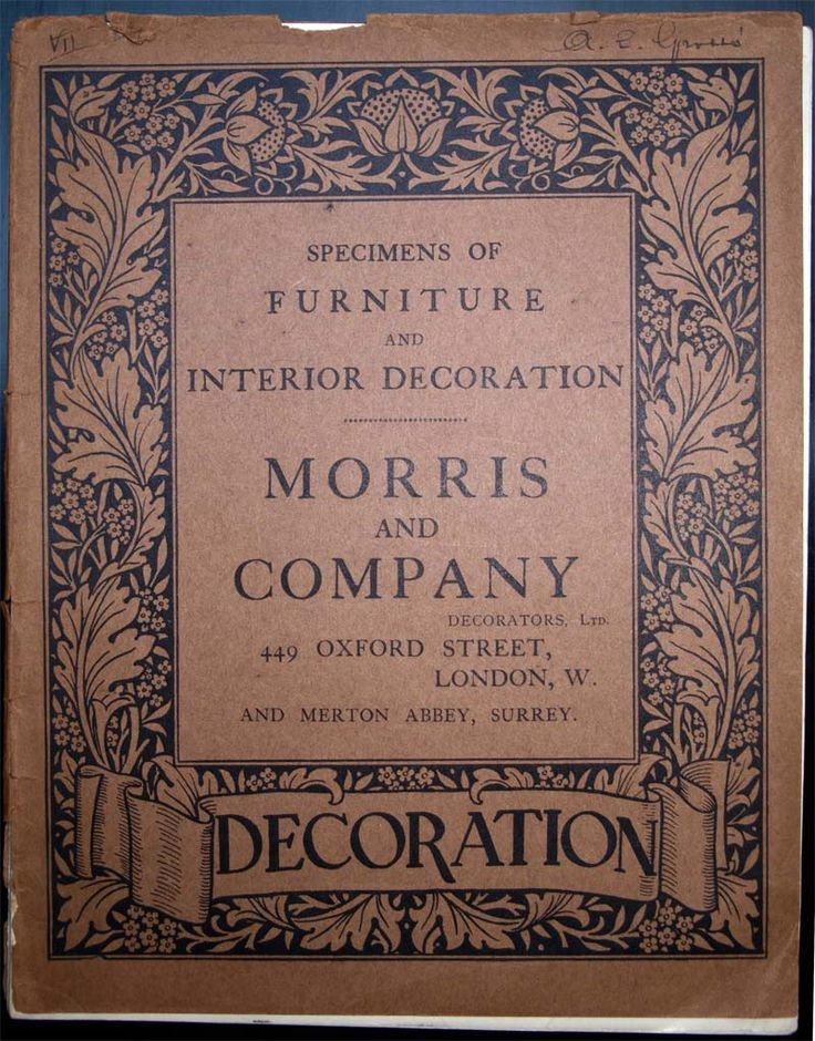 Morris & Co catalog. #morris #design