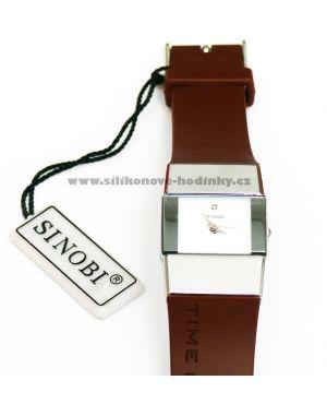 Luxusní hodinky Sinobi-hnědé