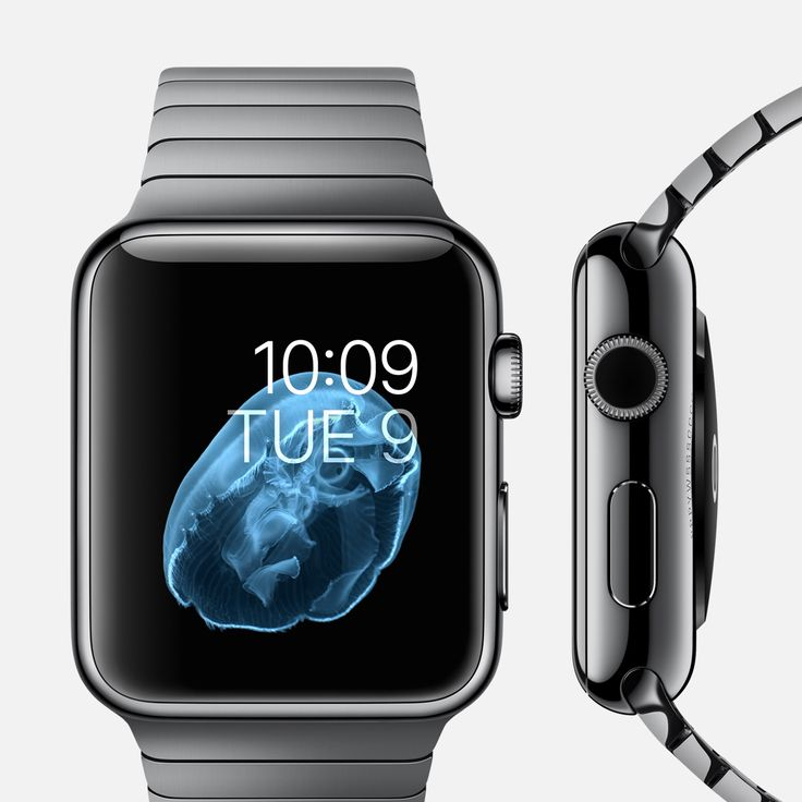 APPLE WATCH 38mm and 42mm Case 316L Space Black Stainless Steel Sapphire Crystal Display  Ceramic Back Link Bracelet Space Black Stainless Steel Butterfly Closure