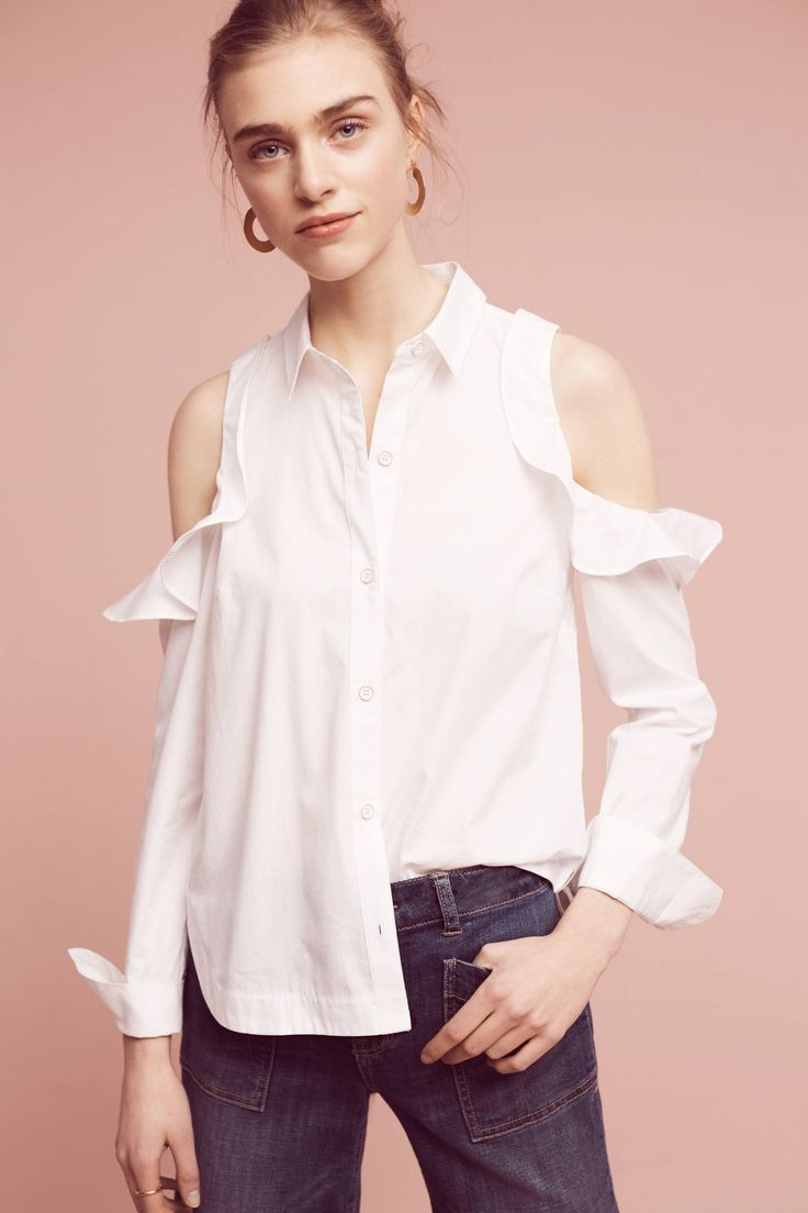 Shop the Ruffled Open-Shoulder Poplin Blouse and more Anthropologie at Anthropologie today. Read customer reviews, discover product details and more.
