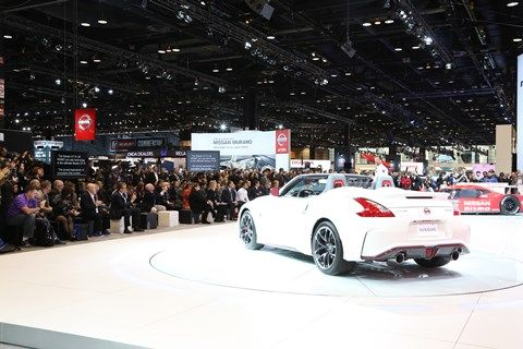 "#Nissan exhibited its ""Innovation that Excites"" philosophy at #CAS15, debuting the 370Z #NISMO Roadster that combines the exhilaration of driving a convertible with the power of driving a race car."