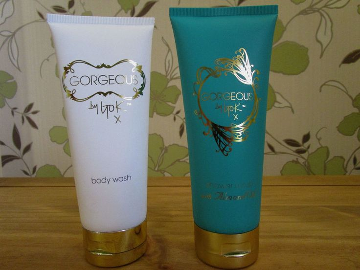 2 x 200 ml Gorgeous By Gok Wan Body wash white & shower scrub with almond oil BN
