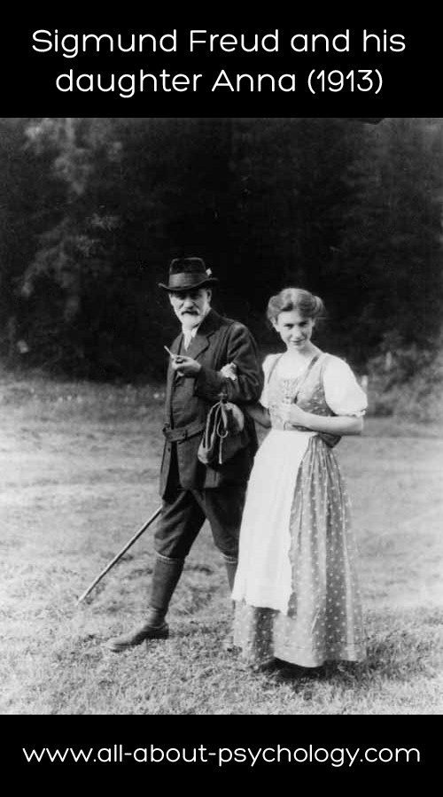 www.all-about-psychology.com/sigmund-freud.html  Great picture of Sigmund Freud and his daughter Anna from 1913. See link below for comprehensive information and resources on #SigmundFreud.  www.all-about-psychology.com/sigmund-freud.html