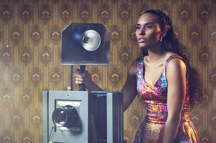 Memories dress. Silk. Photographer Nana Simelius, Model Yacine Samb, Muah Kata Niemi Make Up and Hair