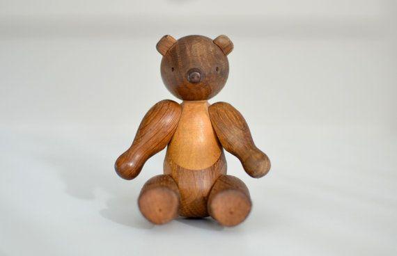 Original Kay Bojesen Teak Bear  Danish by DanishDesignVintage