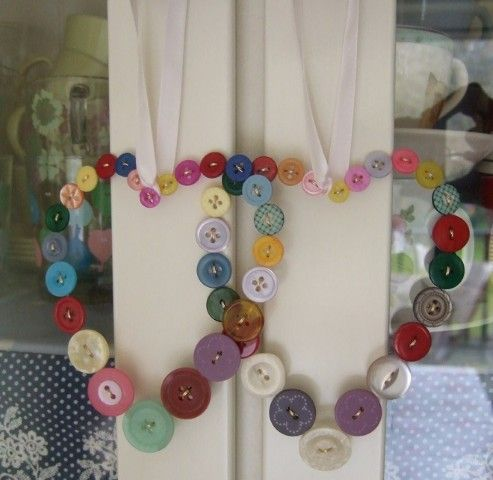 Colourful Button Heart - The Supermums Craft Fair