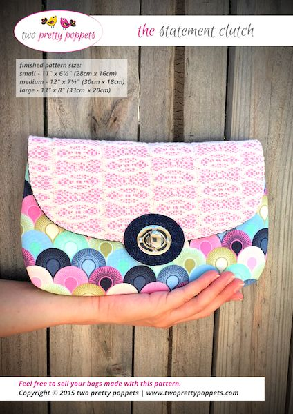 The Statement Clutch – two pretty poppets