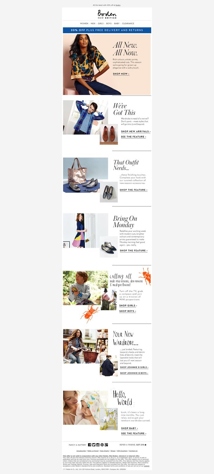 221 best email marketing retail images on pinterest for Boden newsletter