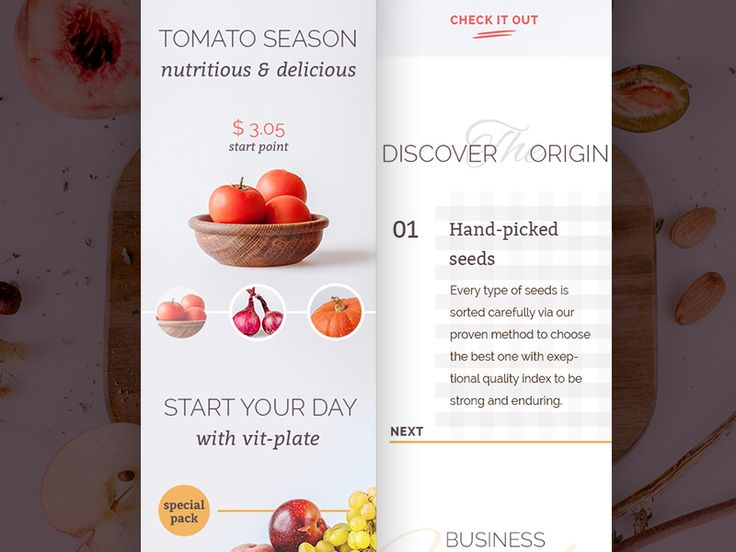 Foodly Homepage Mobile
