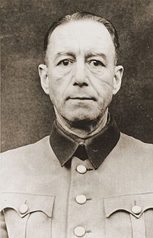 Siegfried Adolf Handloser mug shot circa 1946 (25 March, 1895 - 3 July, 1954) was a Doctor, Prof. Dr. med., Colonel General of the German Armed Forces Medical Services, Chief of the German Armed Forces Medical Services. He was one of the accused in the Doctors' Trial in Nuremberg - after the main Nuremberg Trials.