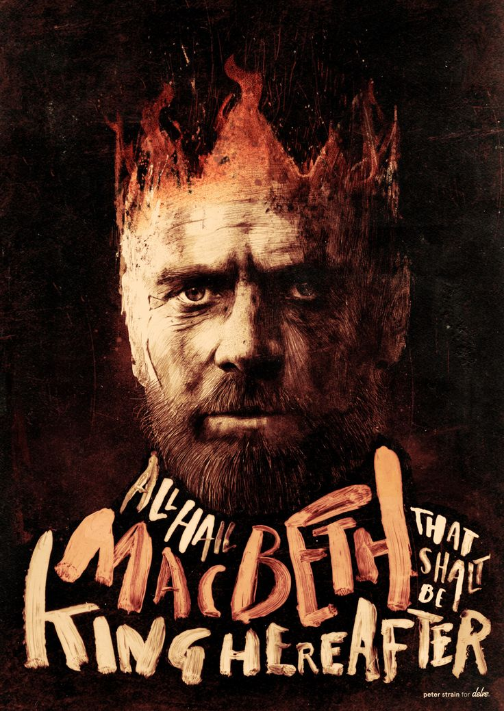"""debutart: """"The king of film posters, Peter Strain, takes on the mighty Macbeth in this new print to promote Delve's film of the week. Visit @delveweekly to purchase a copy of this wonderful..."""