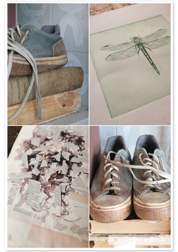 Shoes and drawings