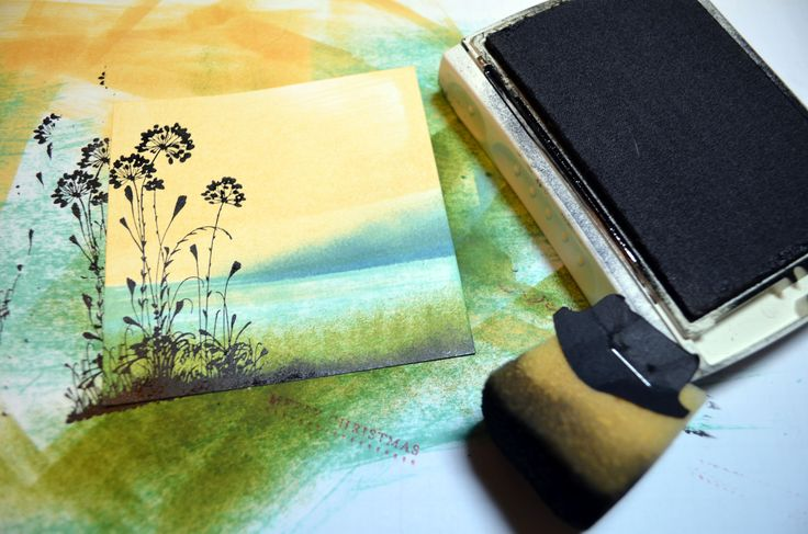 Check out Michelle's great tutorial to make her beautiful Serene Silhouettes card. She uses direct-to-paper and sponging to create this fabulous background.