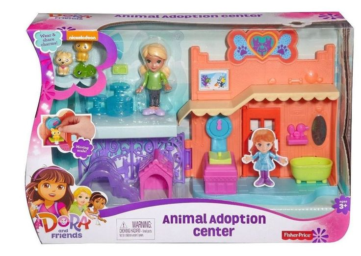 Fisher-Price Nickelodeon DORA Animal Adoption Center SHELTER Charms Toy Gift Set #ebay #dora #animaladoptioncenter