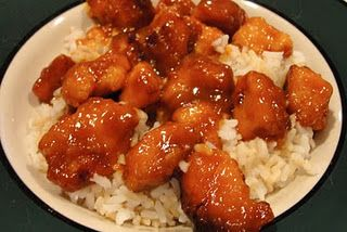Crockpot Orange Chicken: boneless chicken breasts, chopped into small chunks • 1/3