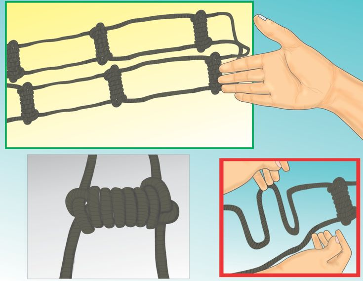 how to use extension ladder rope