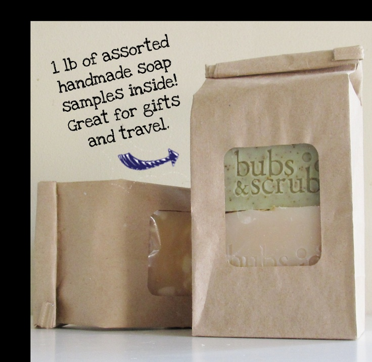 Odds and Ends All Natural Handmade Soap Sample Bag by Bubs and Scrubs $12