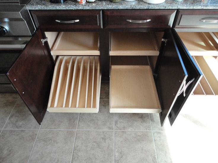 Sliding shelf holds your cooking sheets platters and pan lids upright and  organized for easy access slides out of cabinet76 best Pull Out Shelves Kitchen Cabinets images on Pinterest  . Pull Out Shelves For Kitchen Cabinets. Home Design Ideas