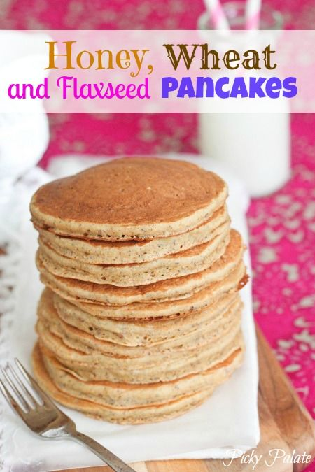 Honey, Wheat and Flaxseed Pancakes {Healthy}   ~~~~~    If you'd like a healthier option for a pancake, I highly recommend my recipe.  You literally add all the ingredients to one mixing bowl and you are ready to go.  Easy and fabulous!