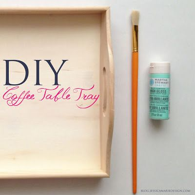 DIY Coffee Table Tray in Mint! Great idea for coffee table and as a perfume tray