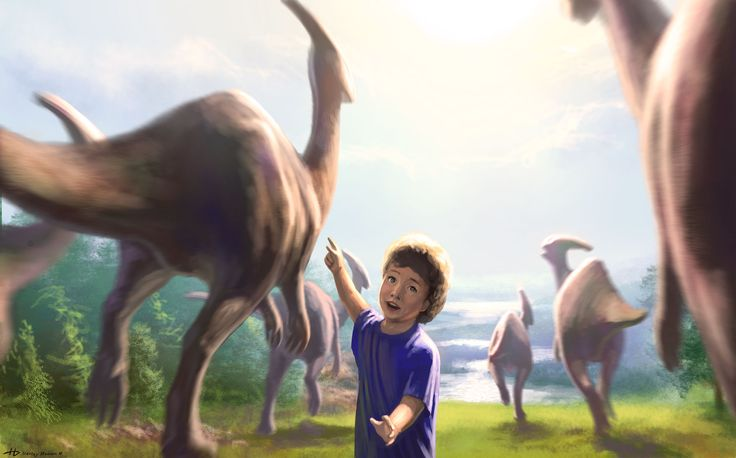 Hi guys! Since my childhood I liked to draw dinosaurs, and now it's love does not pass)). It is grateful to the creators of films that revived the prehistoric animals.