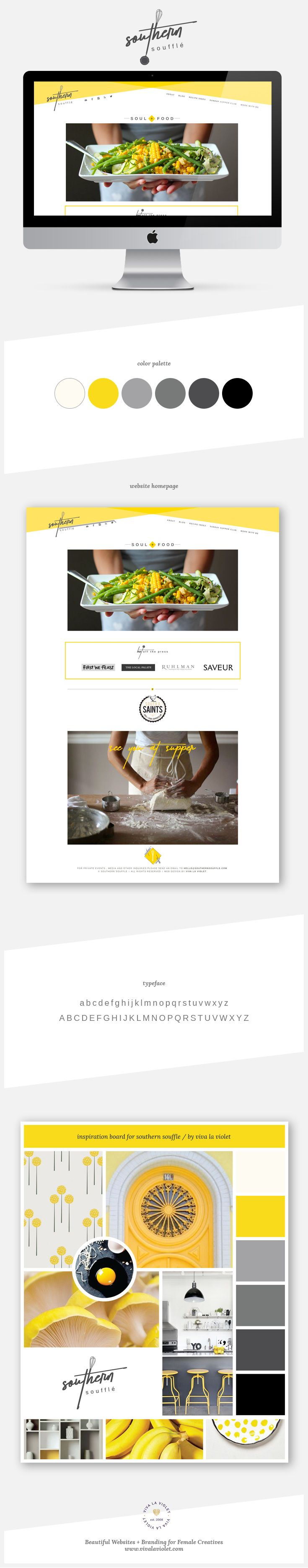 Website Design for Southern Souffle by Viva la Violet | Web Designs and Branding for Female Creatives | Custom WordPress Design