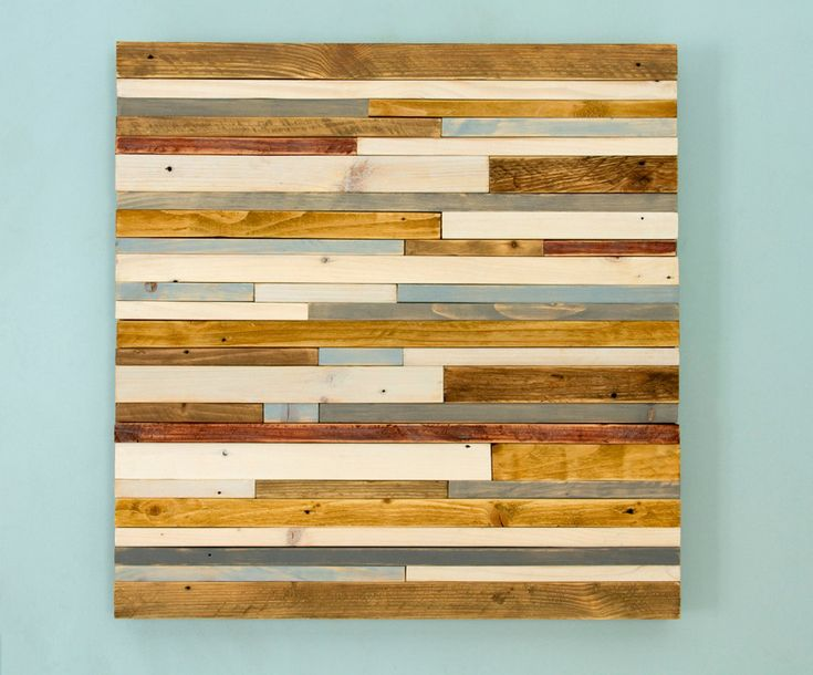 "Wood Wall Art Sculpture Rustic Industrial reclaimed wood, grey, walnut, yew, oak, blue, white  24"" x 24"" by ArtGlamourSligo on Etsy"