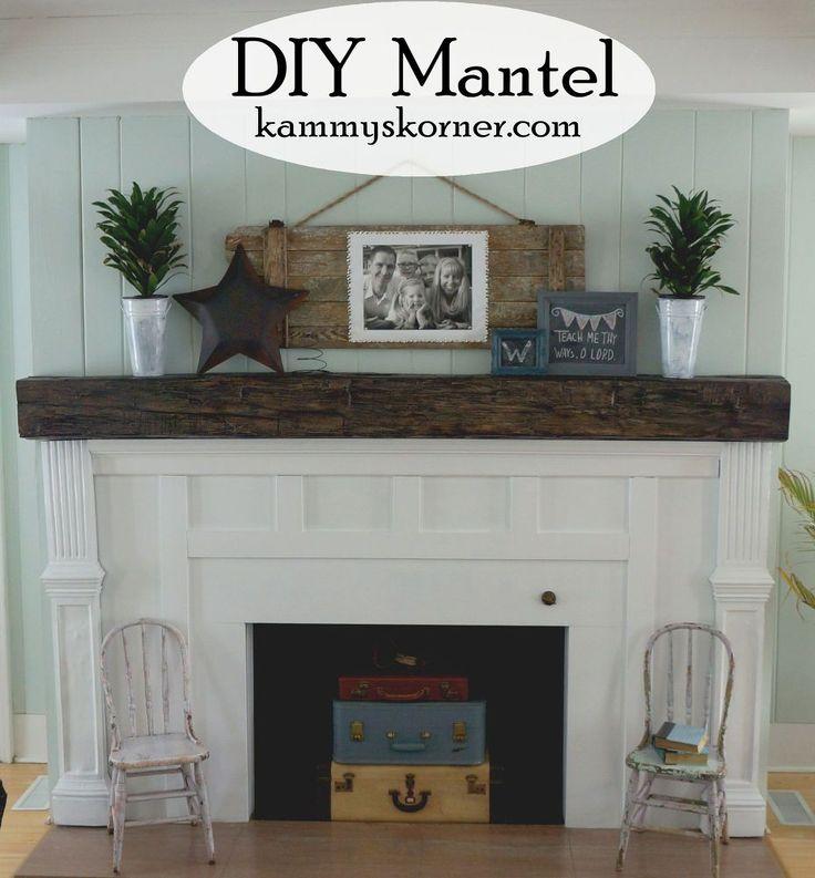 Fireplace Facelift Beautiful Mantel Built With Scraps