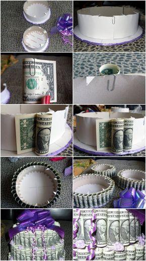 Hochzeitsgeschenk Geld Kreativ Verpacken 71 Diy Ideen Money Cake