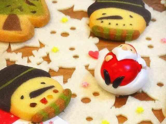 Xmasスノーマンアイスボックスクッキーの画像