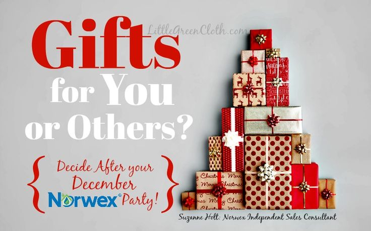 Christmas Shop in the Comfort of Home at your December Norwex Party!