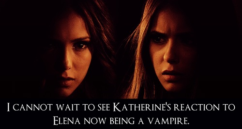 excited/scared for it... (the last girl wrote this... WTF IS SHE SCARED ABOUT MAYBE ELENA WILL FINALLY PICK THE RIGHT MAN/VAMPIRE [for all the idiots out there its DAMON SALVATOR] {DUH!!!!!!!!!})
